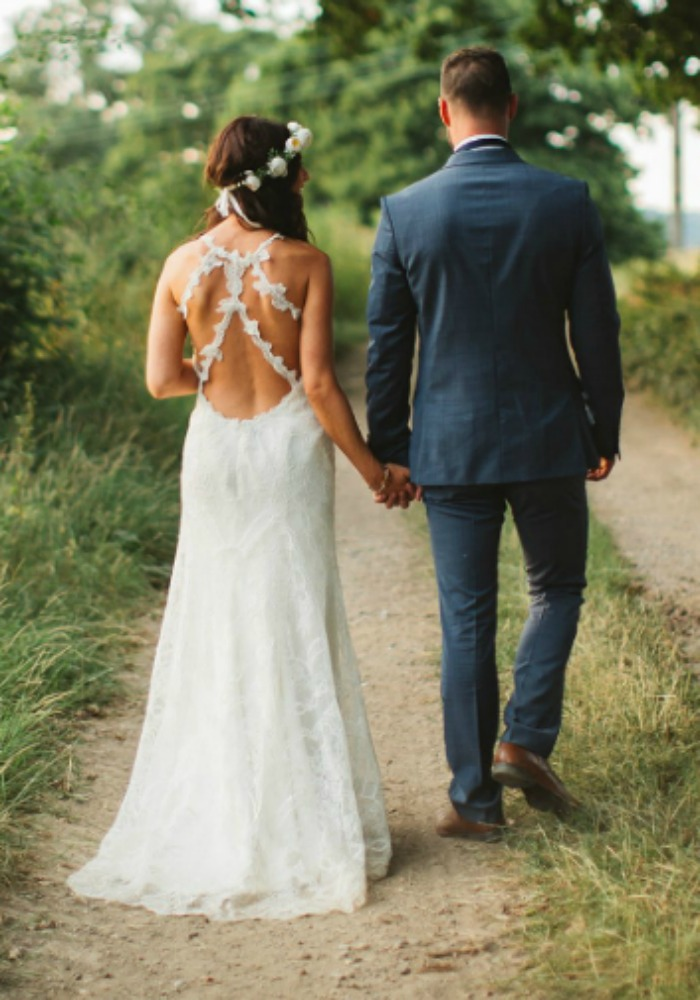 Custom Back Wedding Dress