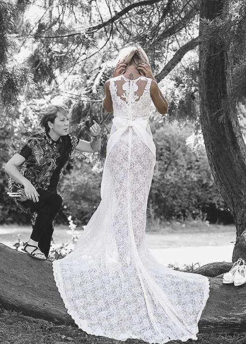 Naked Wedding Dresses, designer wedding dresses
