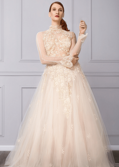 Couture tulle bridal gown