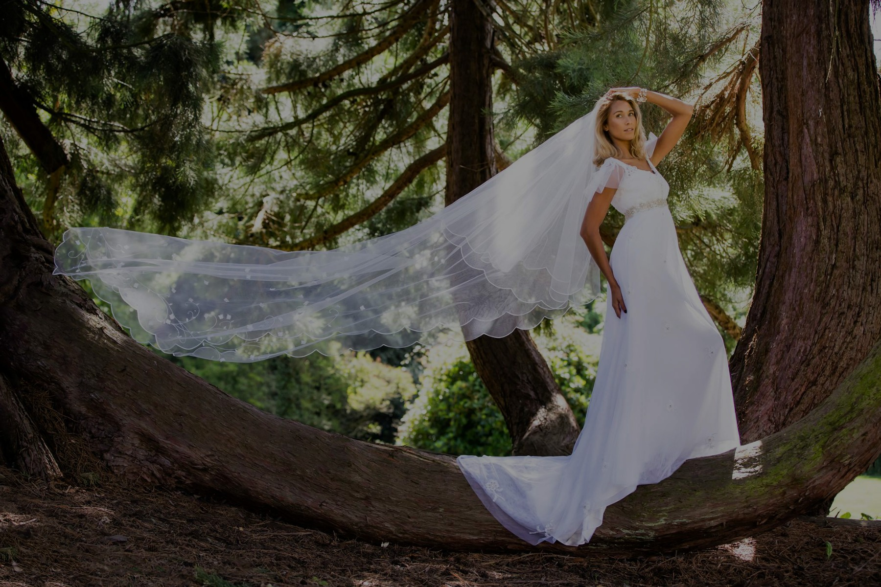 Long Veil Bespoke wedding dress - Wedding Dresses in London ...