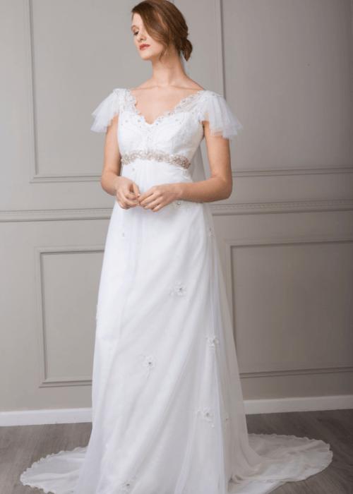 fashion forward bohemian wedding dress
