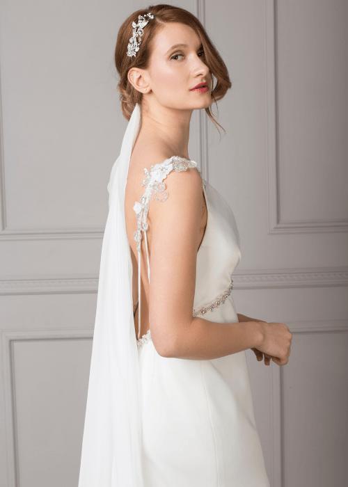 vintage style backless wedding dress