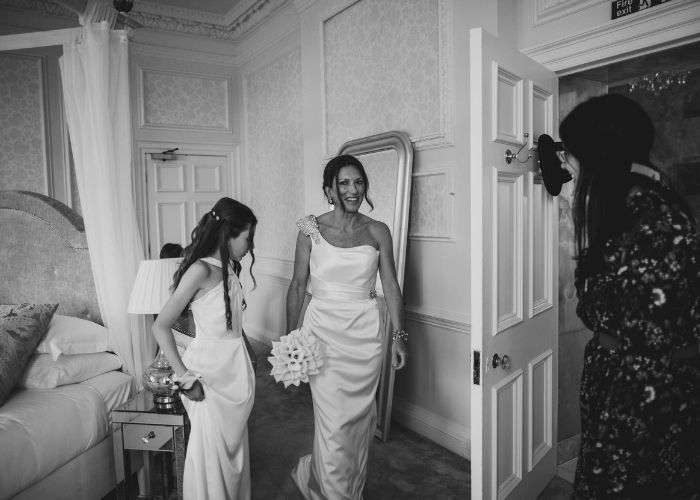 Hedsor House Spring Wedding, Buckinghamshire Wedding Dress Designer