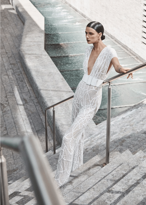 elegant-bridal-trouser-suit, elegant-wedding dress ideas for older brides
