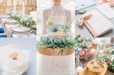 Relaxed and laid back wedding day inspiration mood board