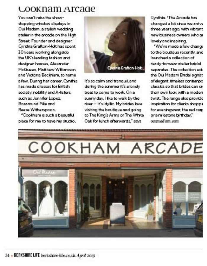 Couture Designer Wedding Dresses London, Wedding dress designer feature in magazine