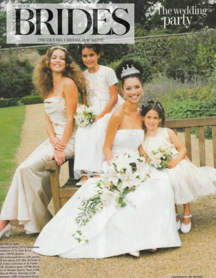 Couture Designer Wedding Dresses London, Brides Magazine Spread
