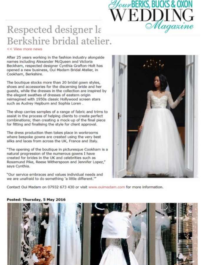 Couture Designer Wedding dresses London bridal boutique