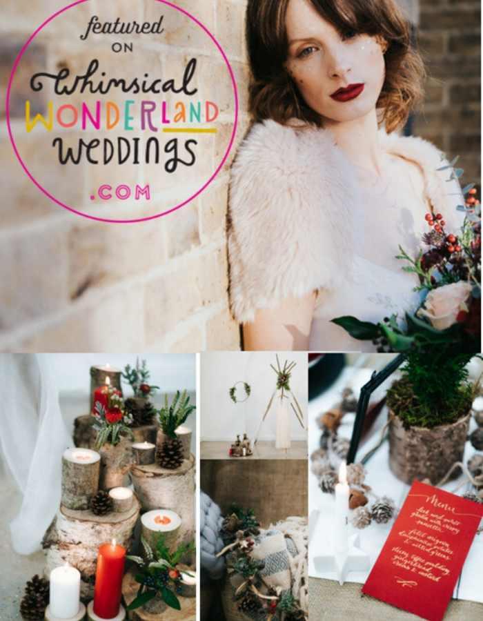 Couture Designer Wedding Dresses London,, WINTER WEDDING BRIDE HOLDING A BOUQUET