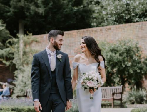 Real Bride | A Bardot Inspired Cold Shoulder Wedding Dress